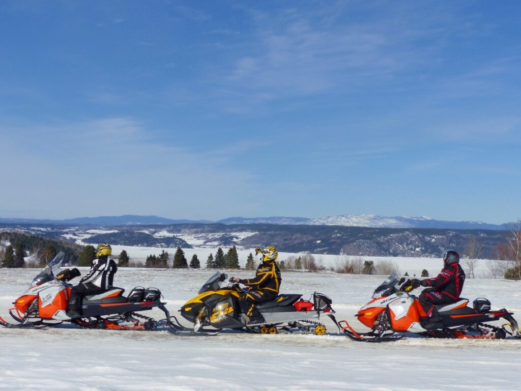 Saguenay Lac-St-Jean is one of Quebec snowmobile tour destination favourites