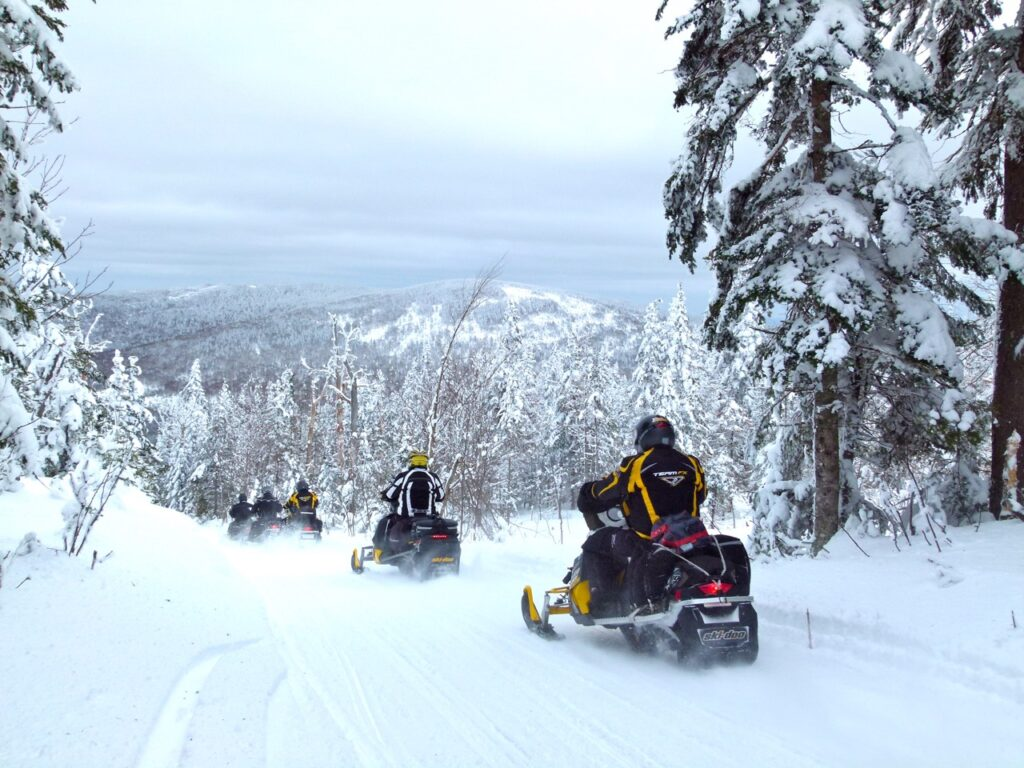 Chaudière-Appalaches is one of Quebec snowmobile tour destination favourites