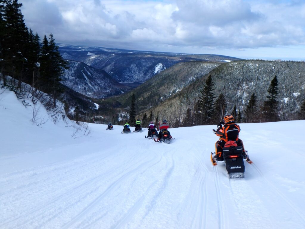 Bas-Saint-Laurent – Gaspésie is one of Quebec snowmobile tour destination favourites