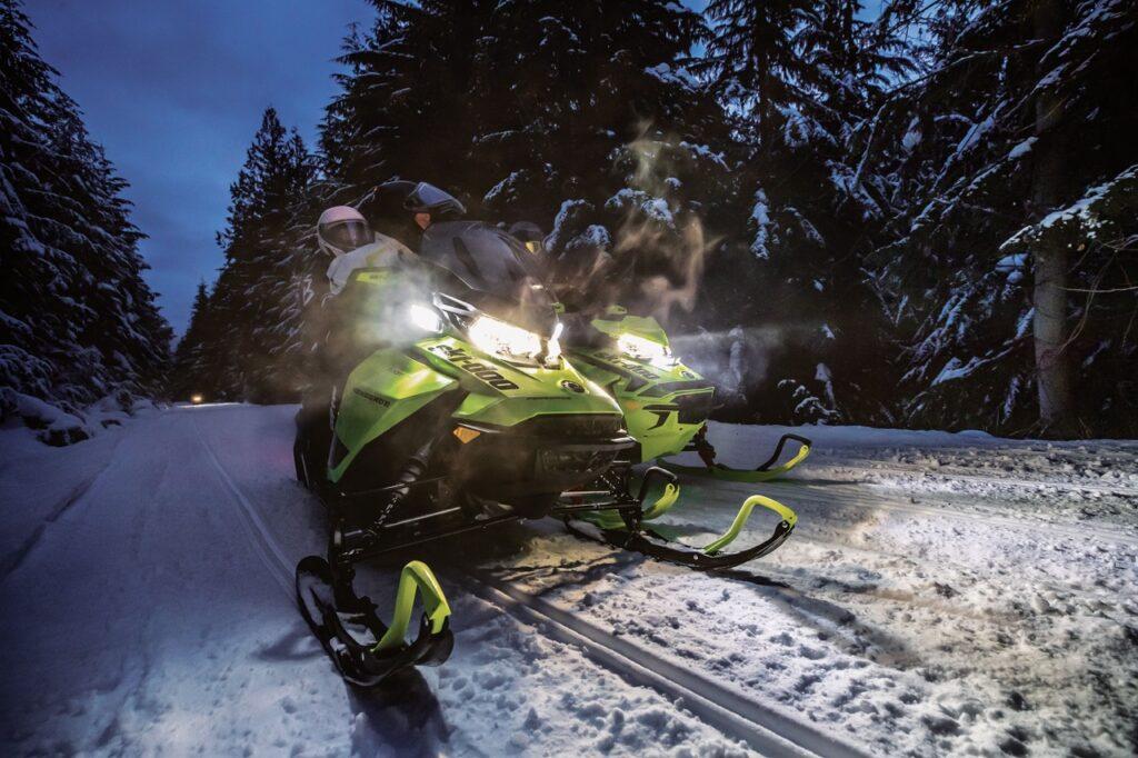 ski-doo LED headlight turns night into day