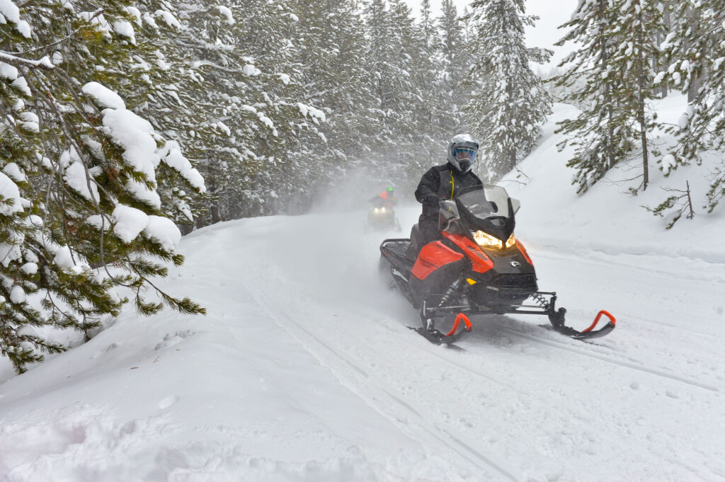 test ride for fine tuning new snowmobiles