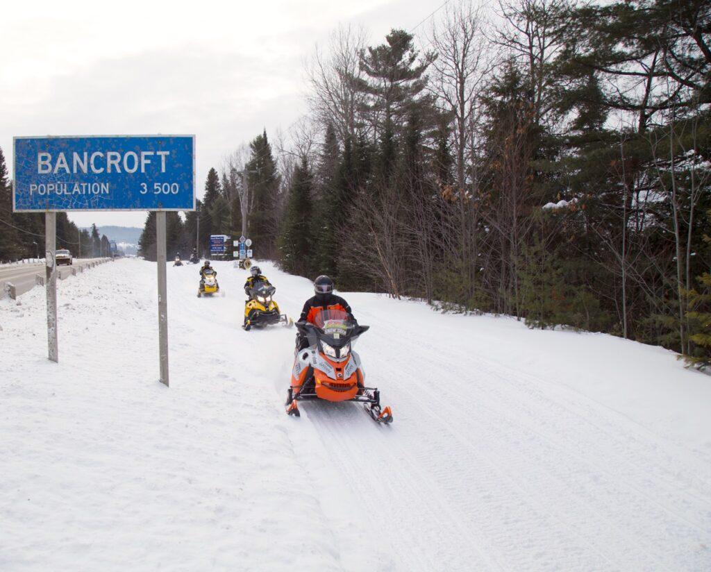 Bancroft is one of the best snowmobiling hubs near golden horseshoe