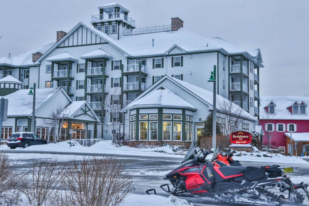 Residence Inn Gravenhurst Muskoka Wharf is the staging hotel for one of the best snowmobiling hubs near golden horseshoe