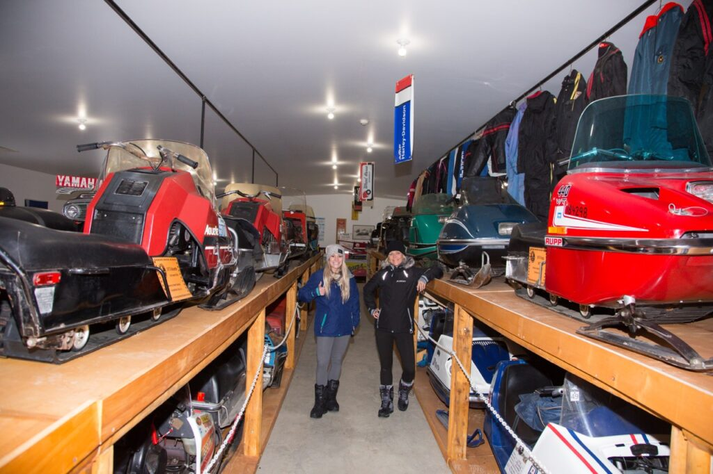 Explore the vintage snowmobile museum while Cochrane Ontario snowmobiling