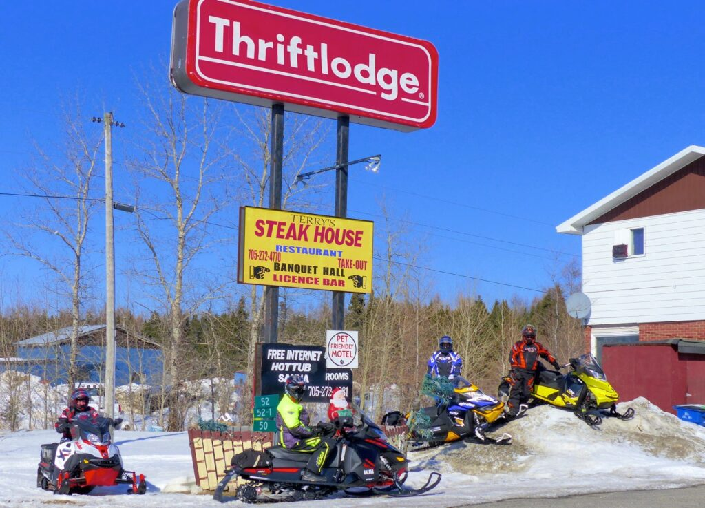Stay at Thriftlodge while Cochrane Ontario snowmobiling