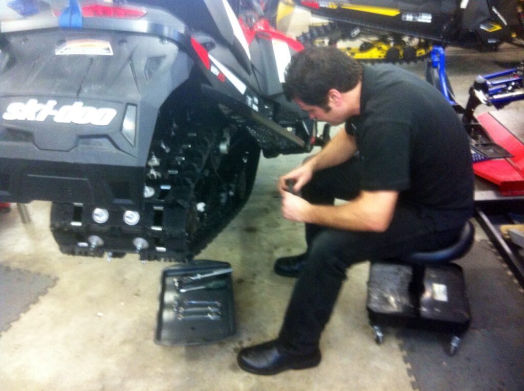 snowmobile maintenance tips include track tension