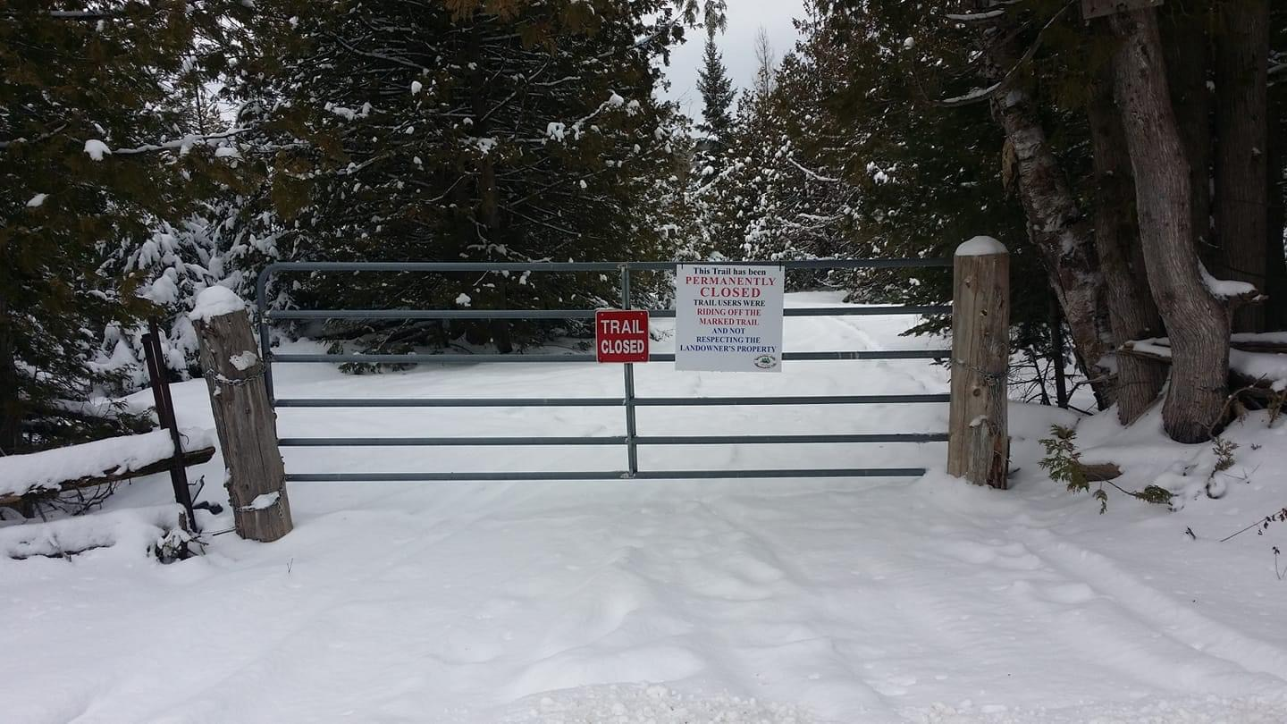 Another trail closed because riders didn't stay on trail.