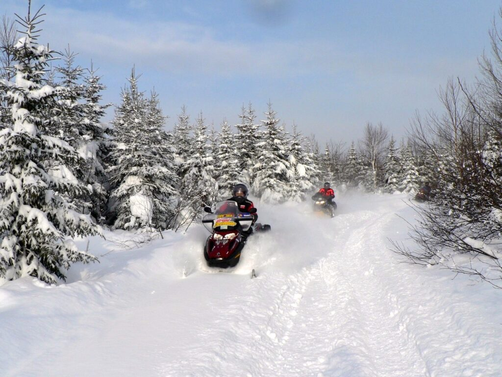 Plenty of snow in early season snowmobiling destinations