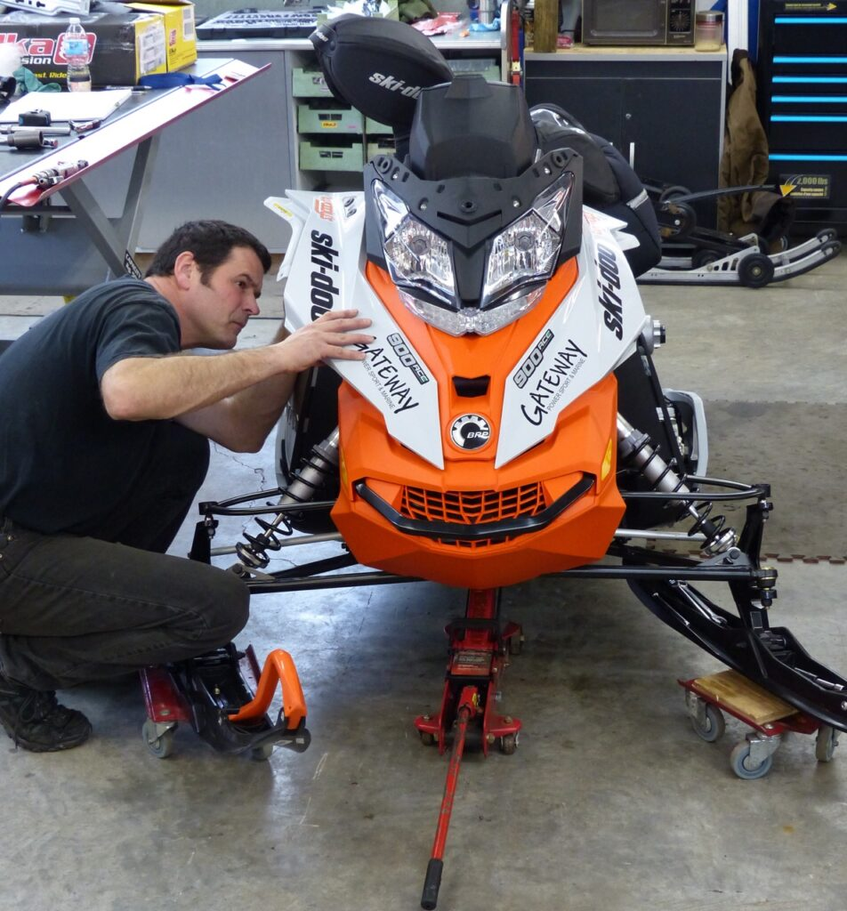 snowmobile maintenance tips include visual inspection