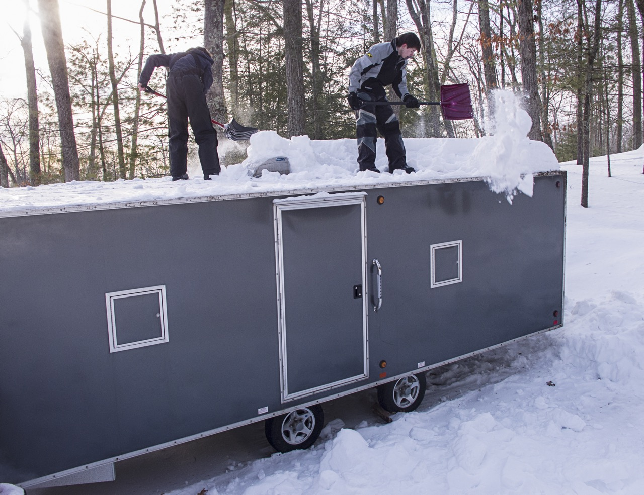 Snowmobile Trailer Roof Snow Overload Tips