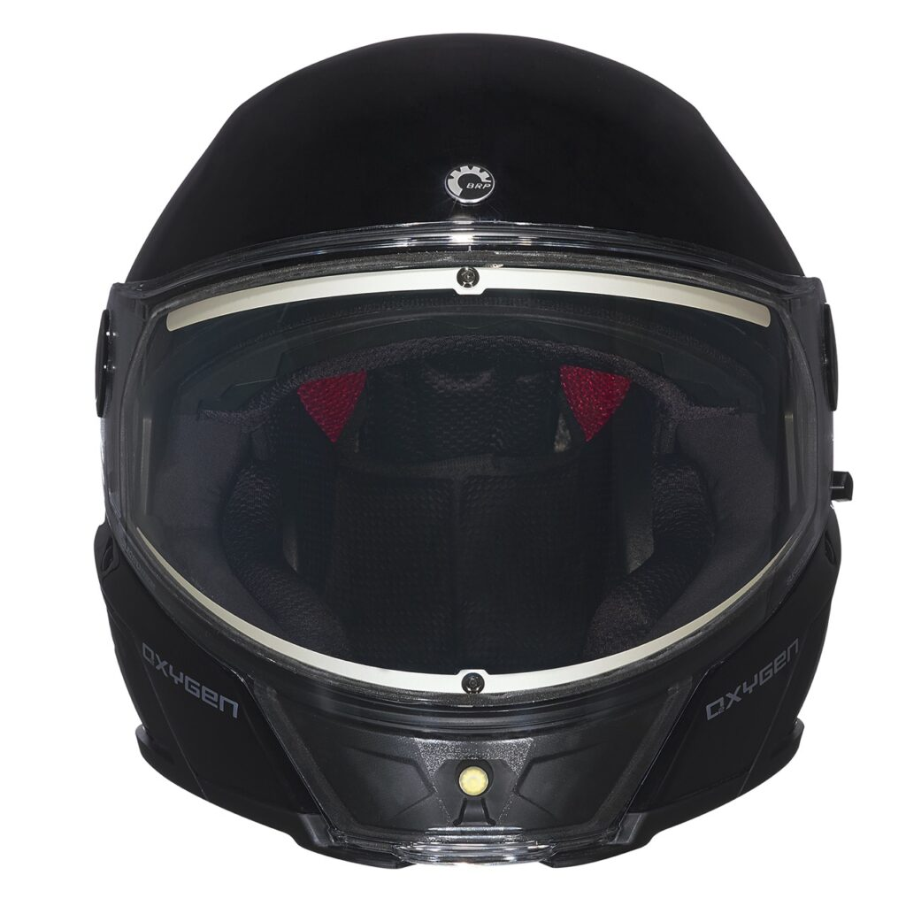 oxygen snowmobile helmet front view