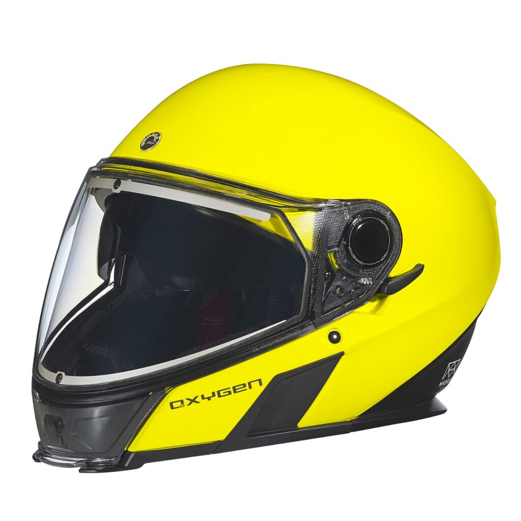 Hi-vis colour oxygen snowmobile helmet