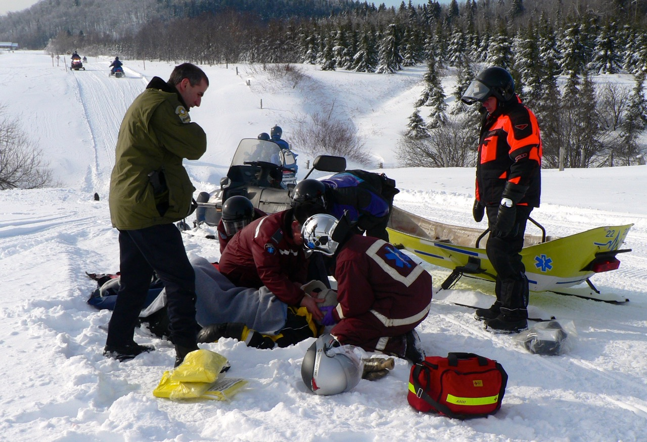 First aid realities include trail side incidents in remote places.