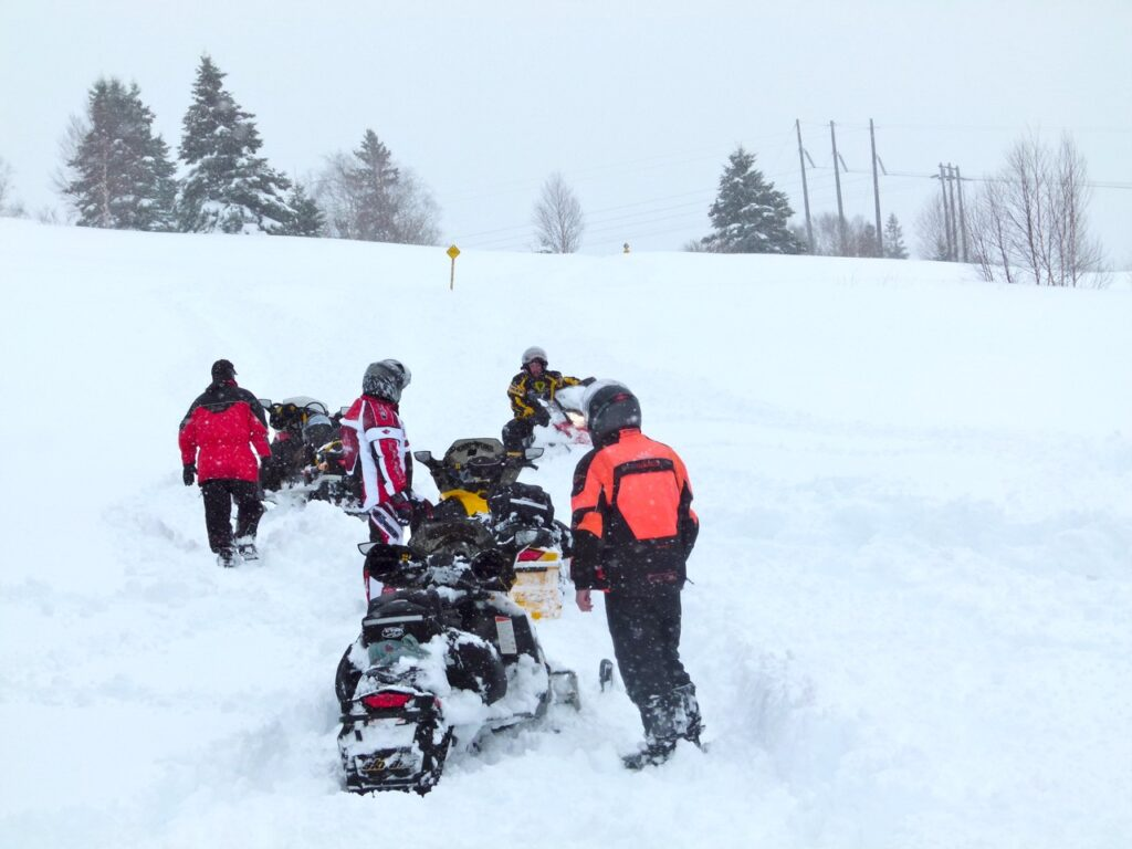 How to fund the trail is among snowstorm snowmobiling tips.
