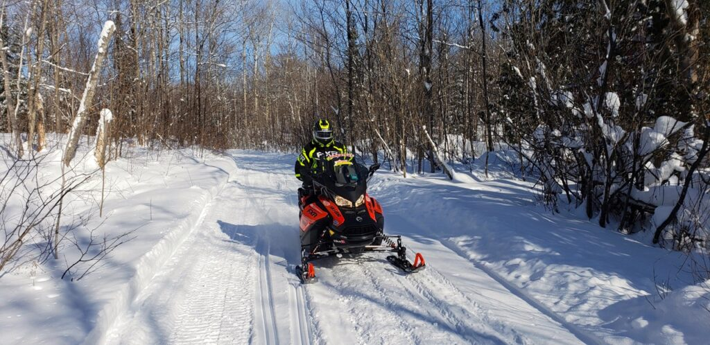 Lots of trail riding goes into making Snowmobile touring stats