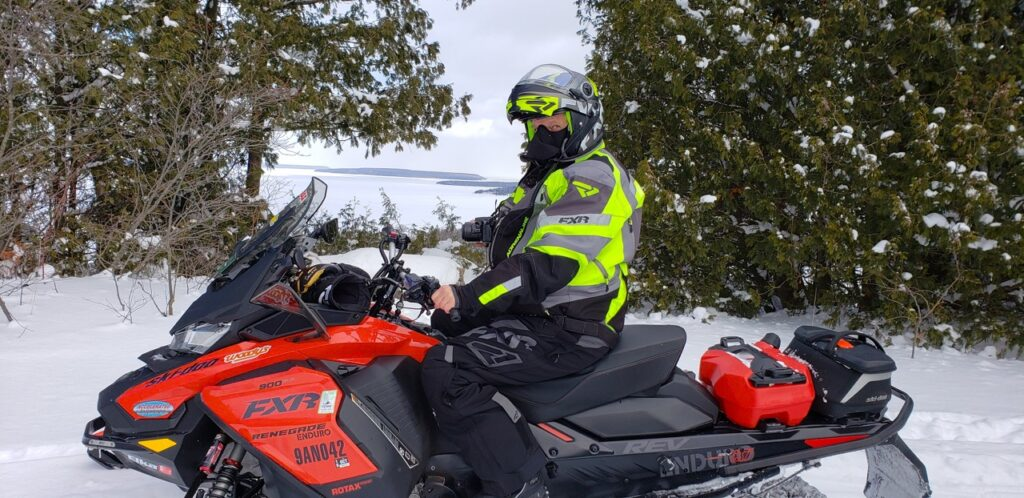 Snowmobile touring stats include visits to lookouts