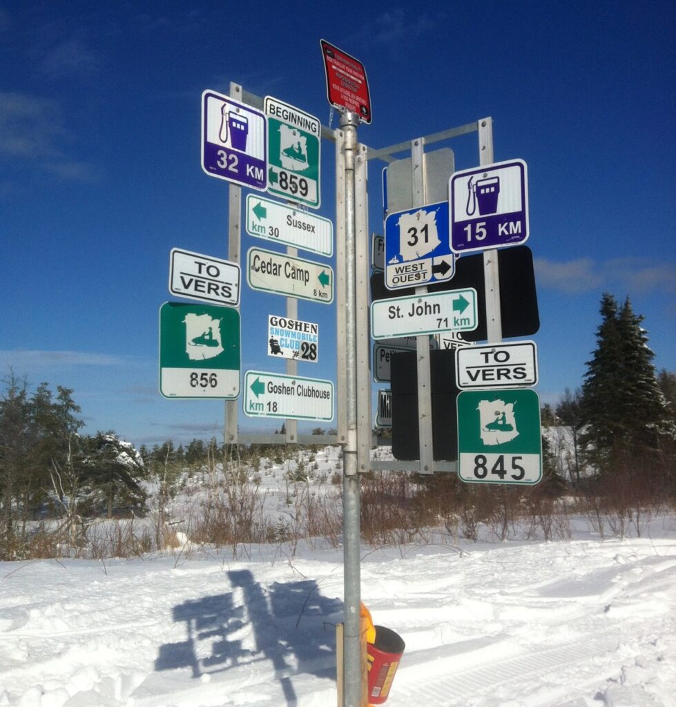 Sign post in New Brunswick