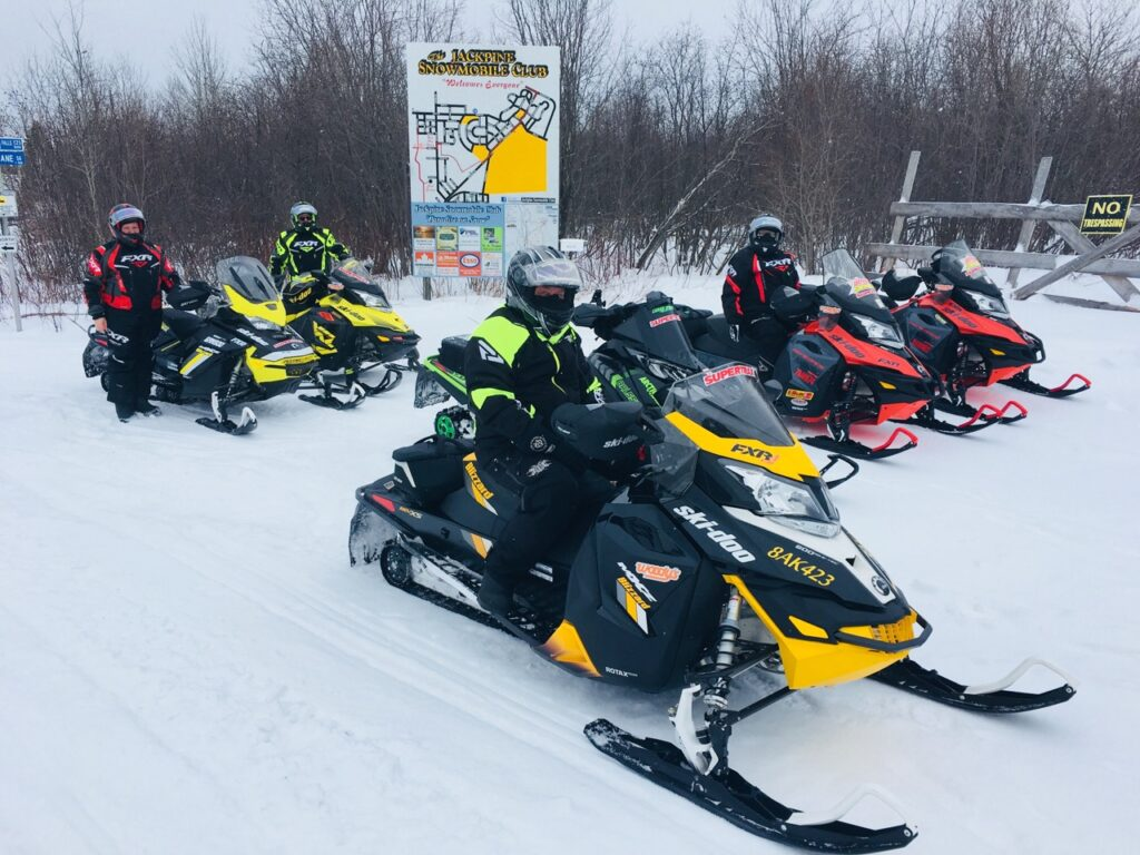 Town maps are good Snowmobile trail signs