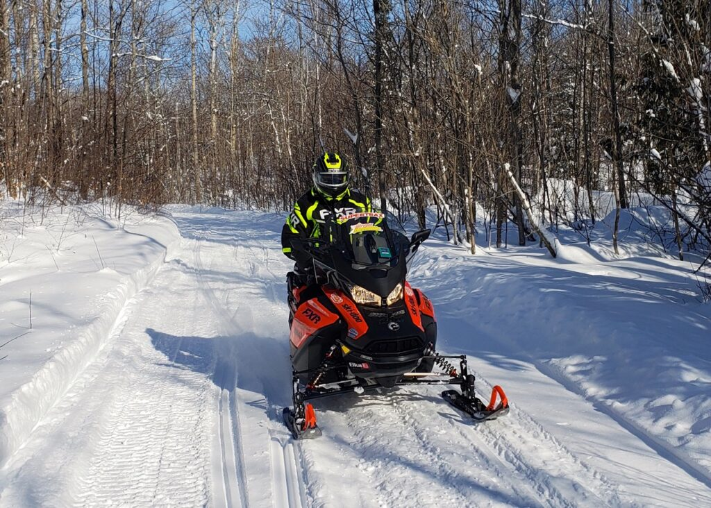 Ski Doo Renegade Enduro on the trail