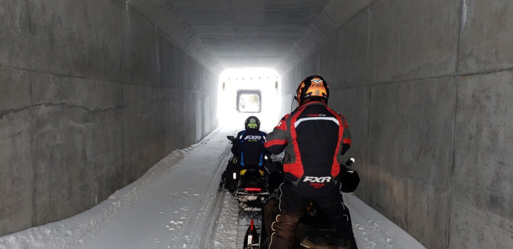 To snowmobile Smiths Falls area, riders go under some major highways thru tunnels.
