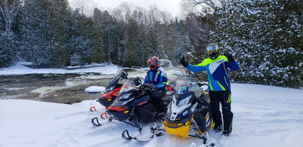 Snowmobile Midwestern Ontario at Sauble Falls