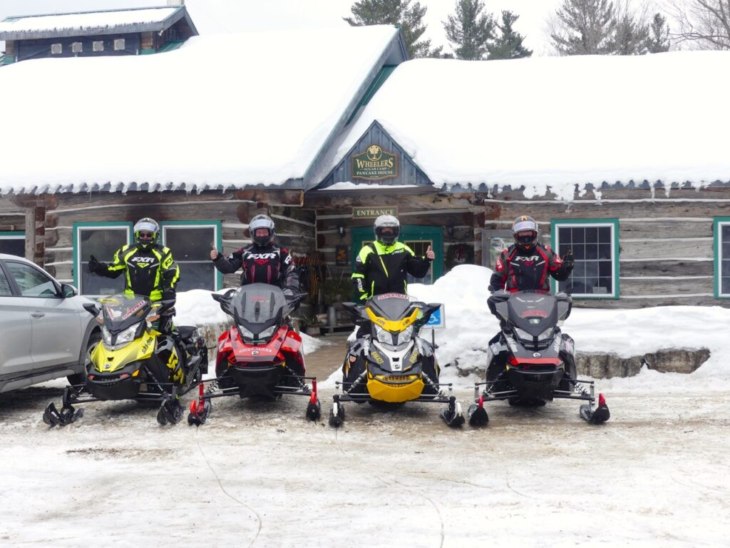 Wheeler's Pancake House serves all day pancake meals to snowmobile Smiths Falls