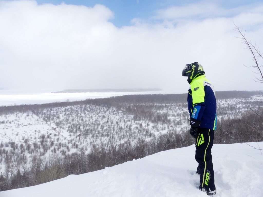 Snowmobile Midwestern Ontario by visiting Skinner's Bluff