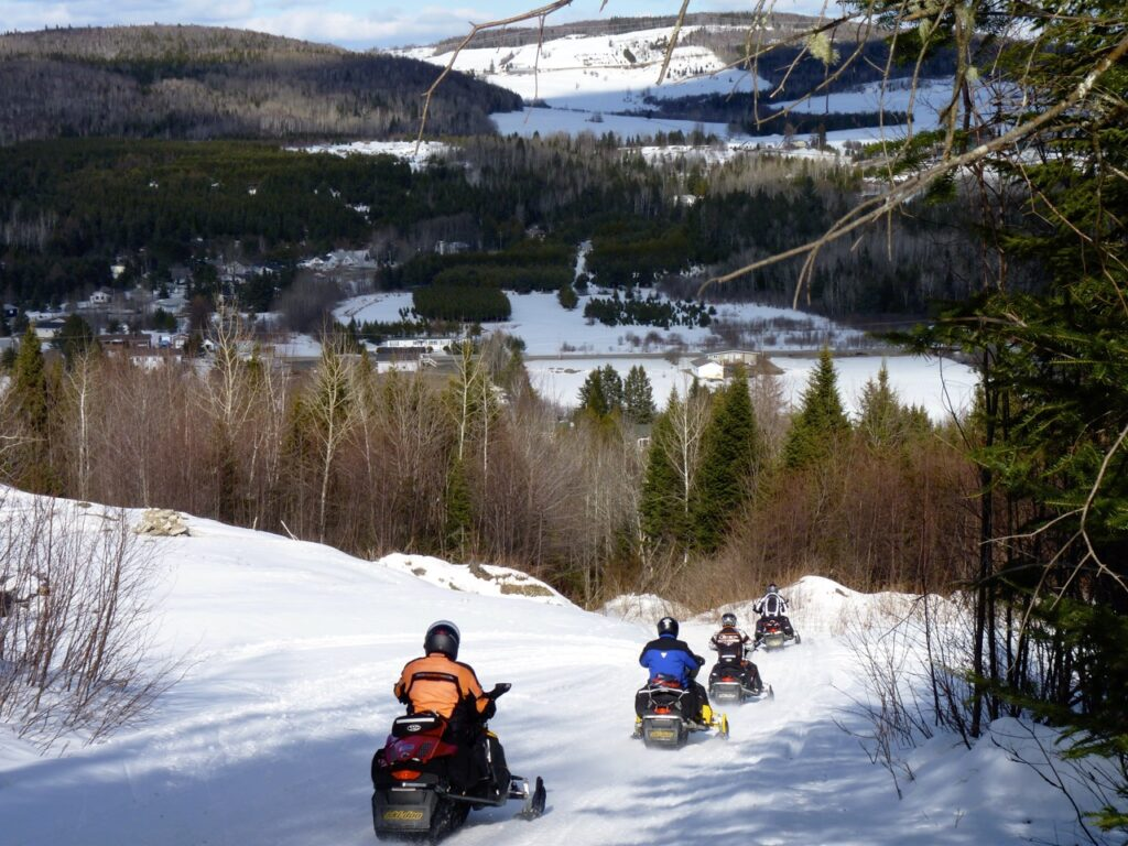Ride scenic terrain like this to snowmobile New Brunswick Northern Odyssey