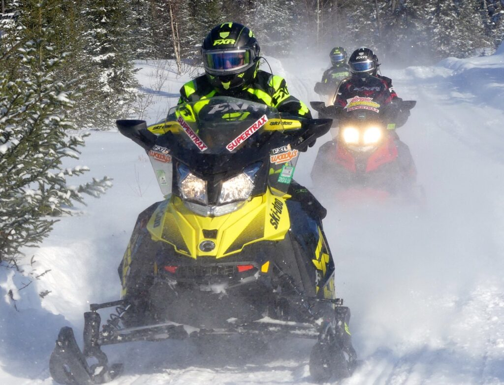 Sharpening snowmobile carbides provides better traction control for trail riding.