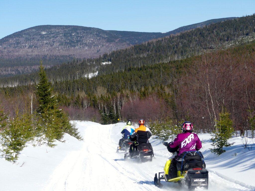 Mountainous terrain riding to snowmobile New Brunswick Northern Odyssey