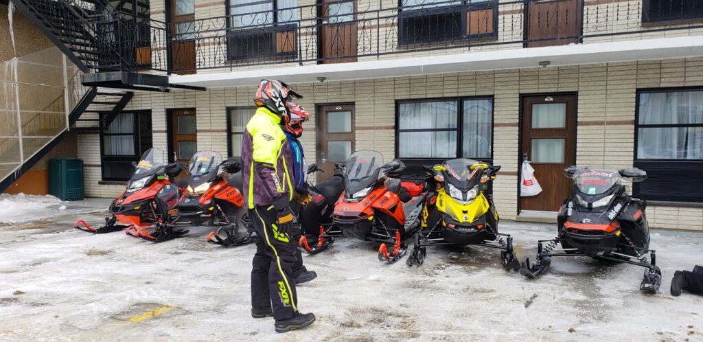 Overnight sled parking in front of your room is more secure & convenient.