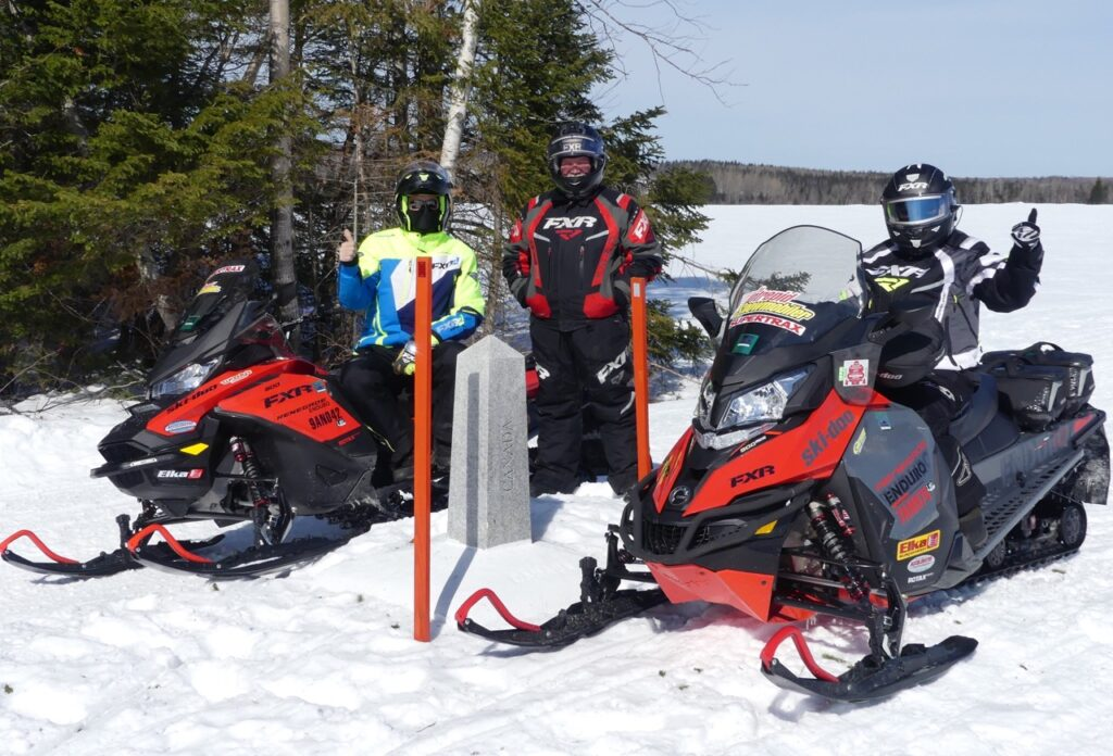 Snowmobiling Northern Maine takes you along the border between the U.S. & Canada