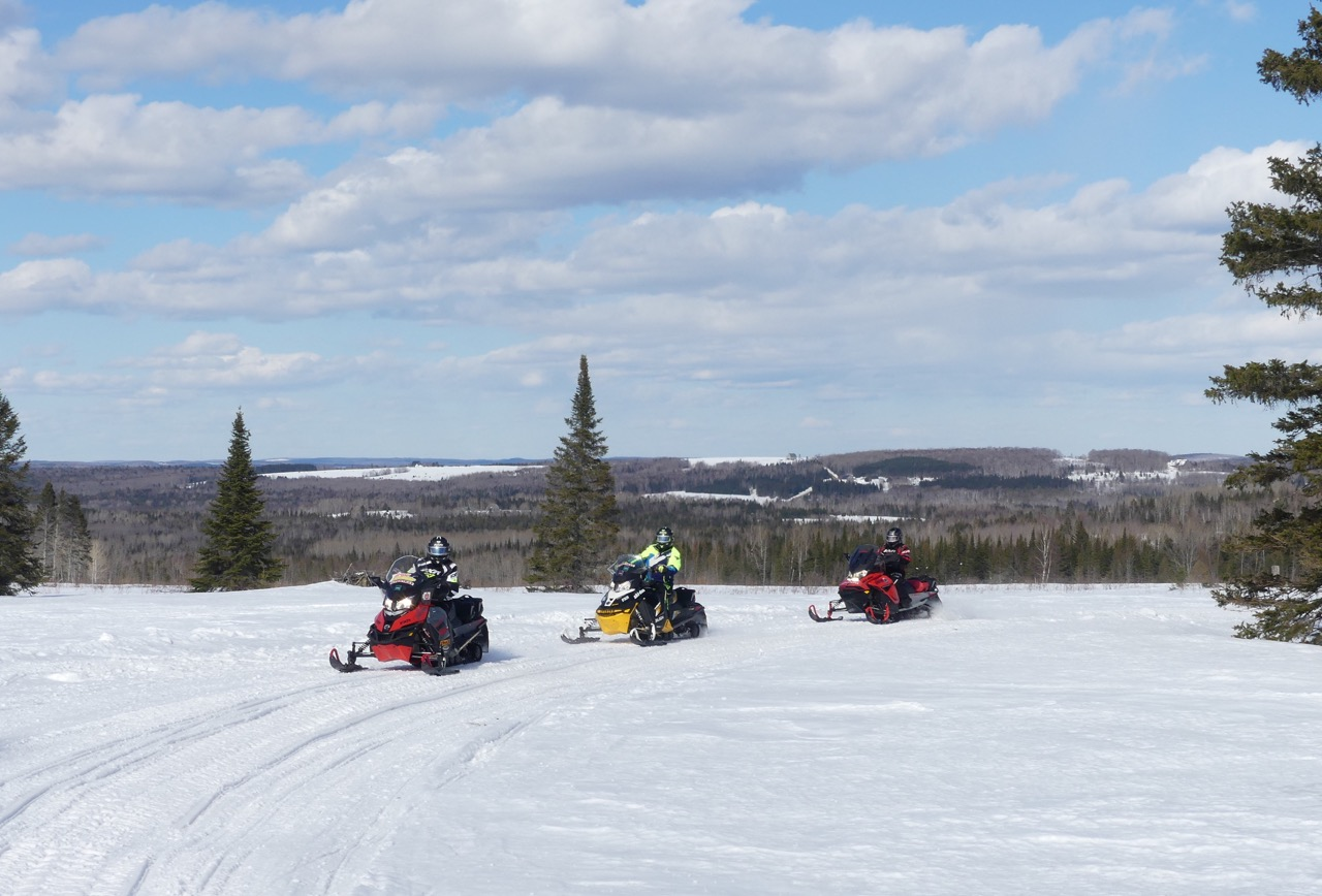 Snowmobiling Northern Maine