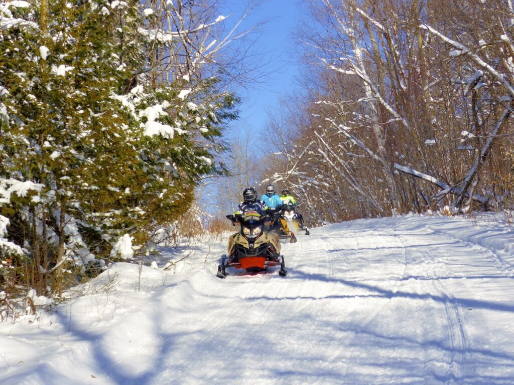 Hilly terrain makes Mont Laurier snowmobiling more interesting