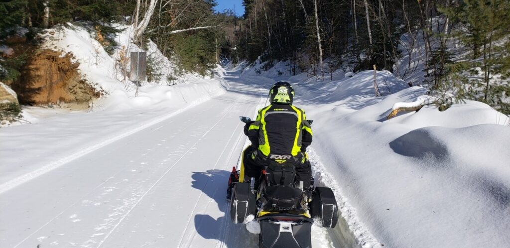 Outaouais Quebec snowmobiling trails look like this!
