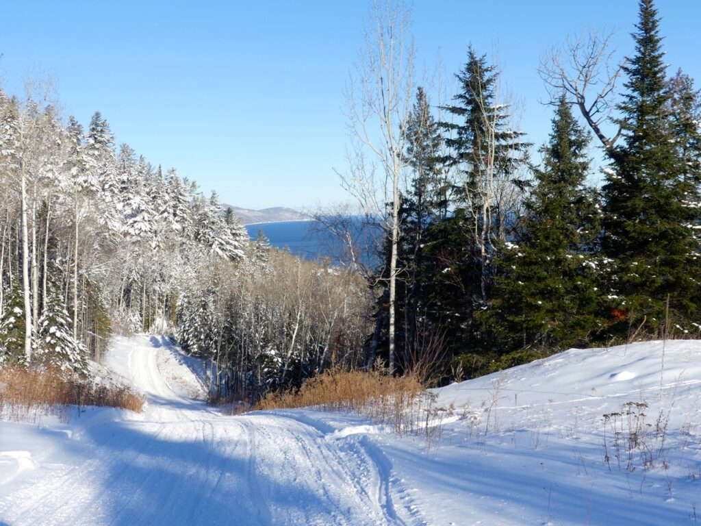 Charlevoix Quebec snowmobiling includes countless sights & scenes like this!