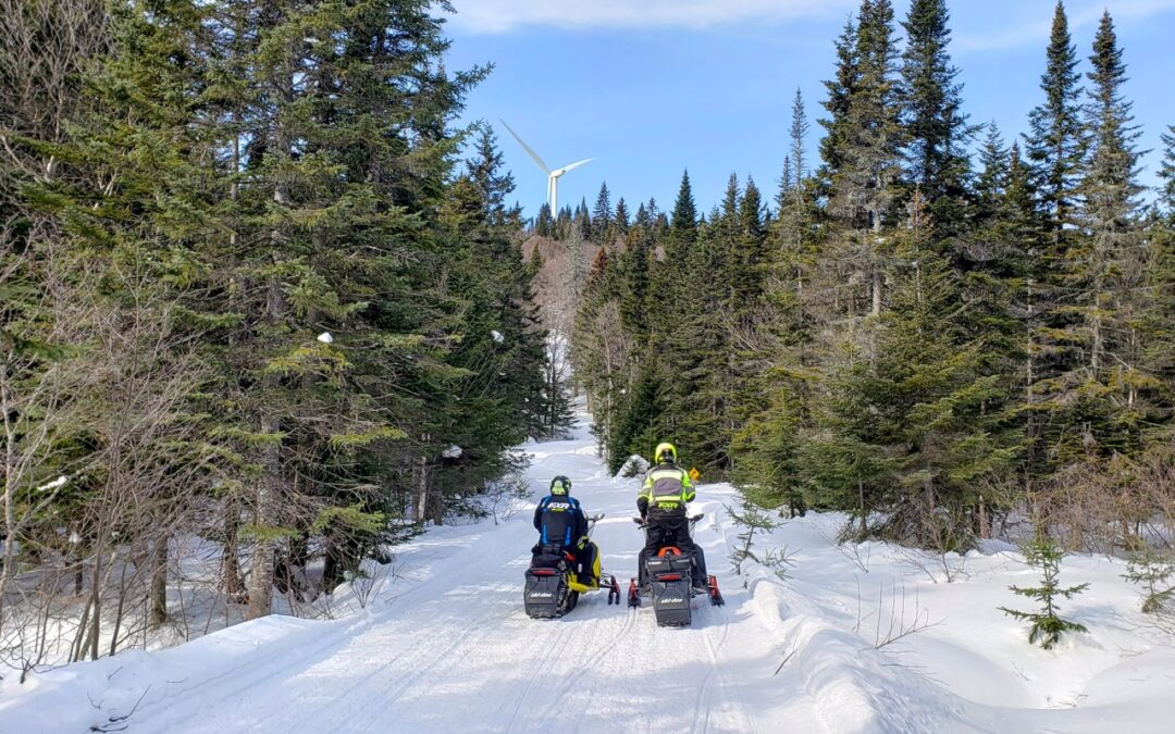 Chaudière-Appalaches Quebec Snowmobiling Snapshot