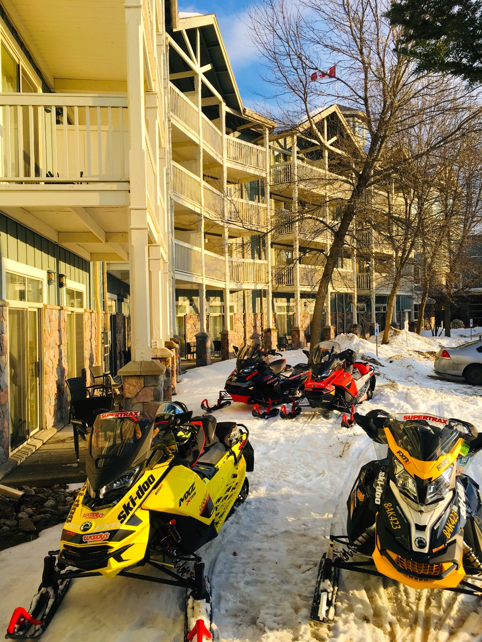 Muskoka Ontario Snowmobiling Snapshot