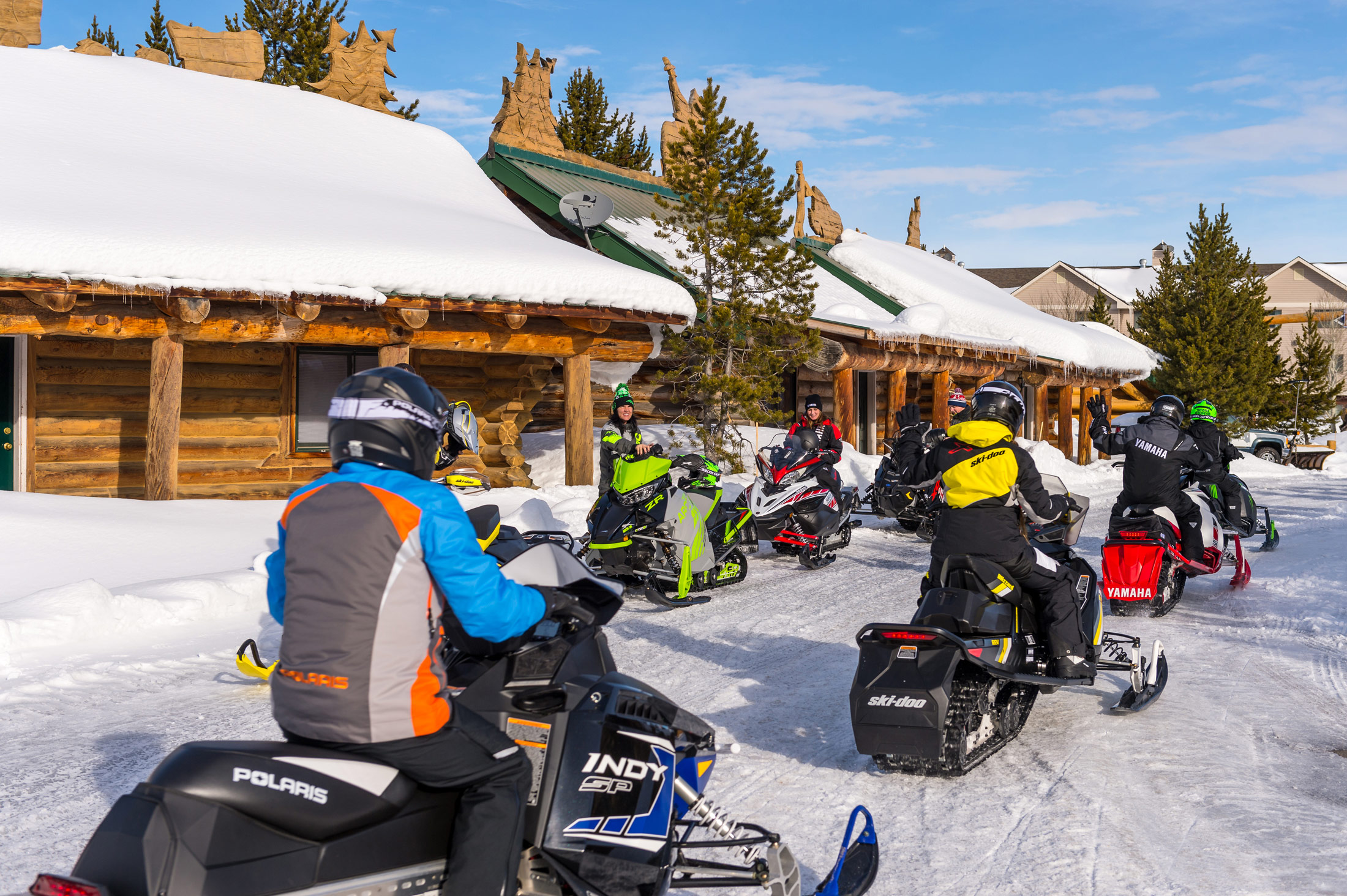 Be extra careful when open snowmobile trails lead to public locations.