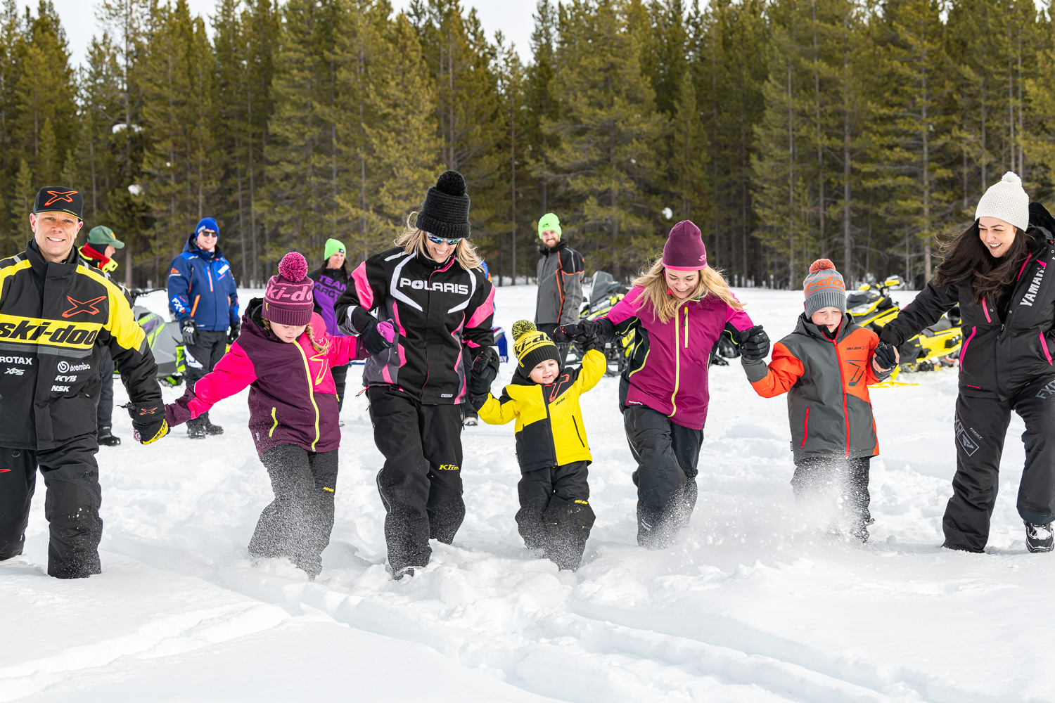 Snowmobile beginners tips include how to ride with couples, families & kids.
