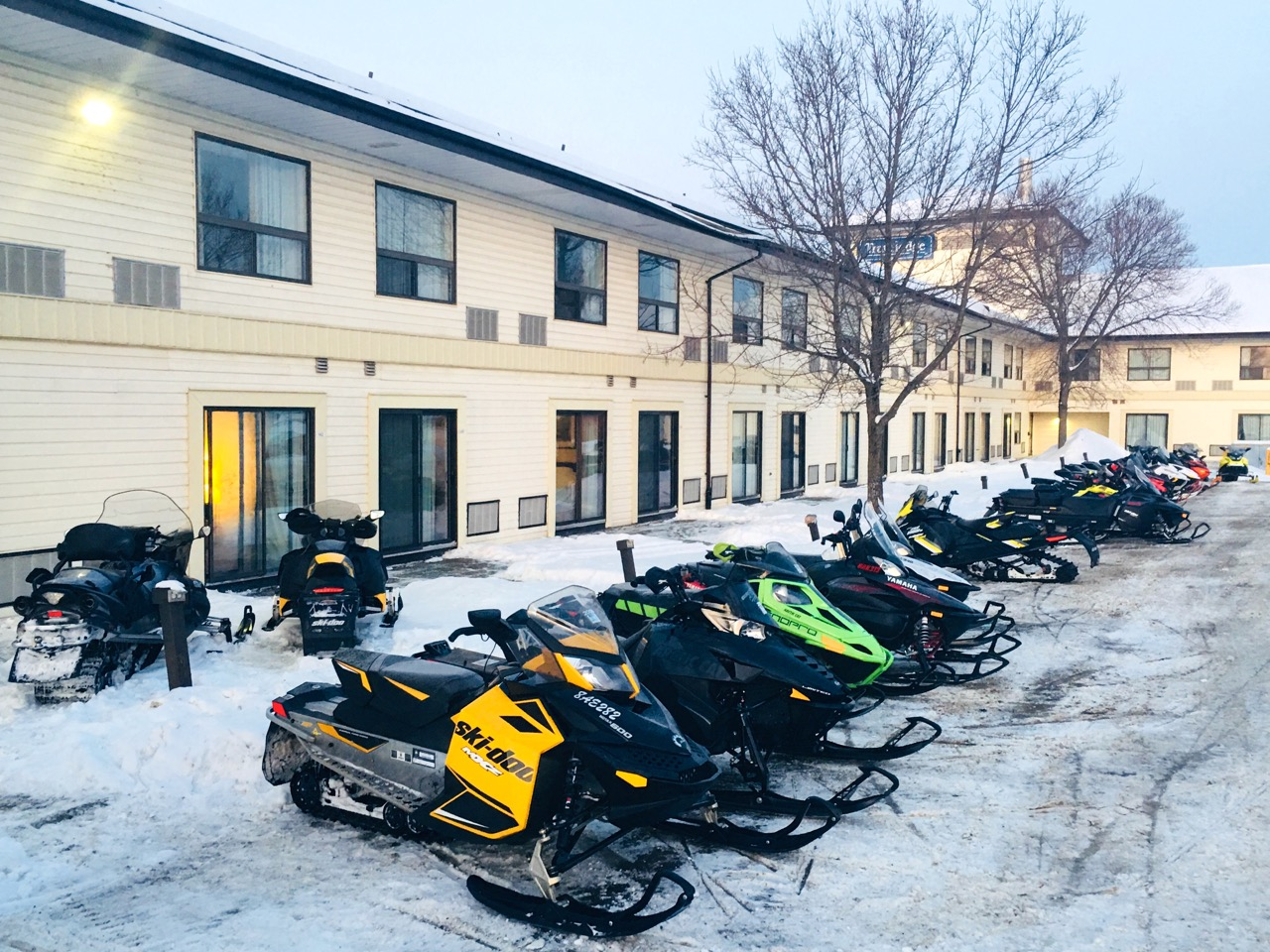 Snowmobile North Bay from the trail accessible Travelodge.