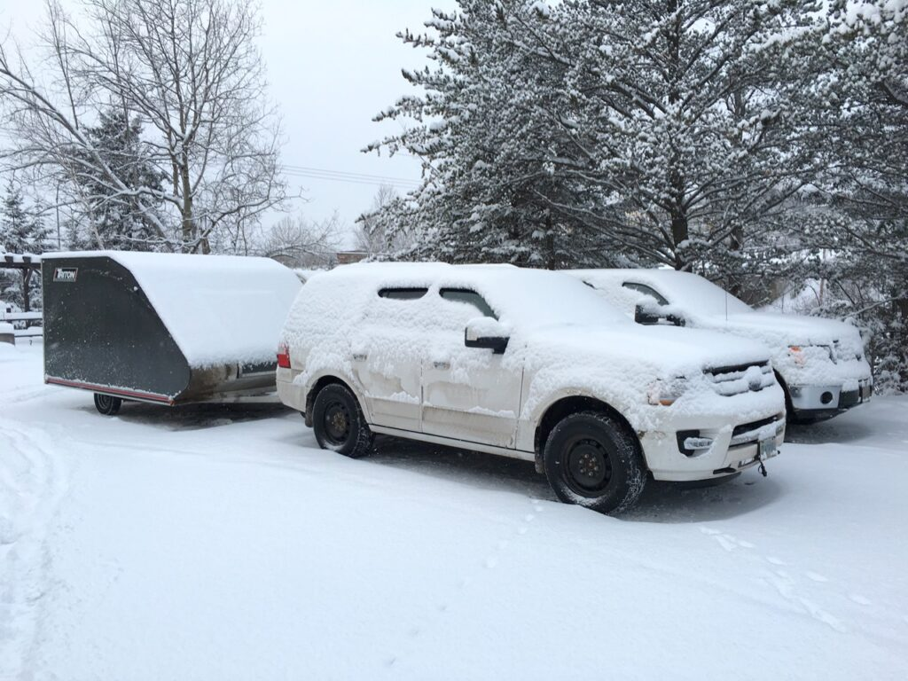 Exposure to the elements is a good reason for a snowmobile trailer checklist