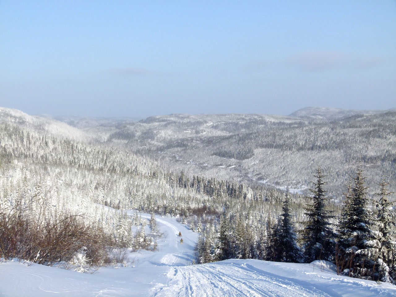 Staying warm while snowmobiling enables you to enjoy sights like this!